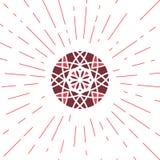 Emblema geométrico de Sun do vetor Fotos de Stock Royalty Free