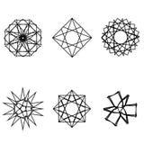 Emblema geometrico di astrologia del pentagramma della stella dell'icona del modello Immagini Stock