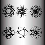 Emblema geometrico di astrologia del pentagramma della stella dell'icona del modello Fotografia Stock