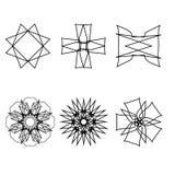 Emblema geometrico di astrologia del pentagramma della stella dell'icona del modello Immagine Stock