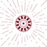 Emblema geometrico di Sun di vettore Fotografia Stock