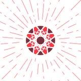 Emblema geometrico di Sun di vettore Immagine Stock