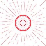 Emblema geometrico di Sun di vettore Immagini Stock