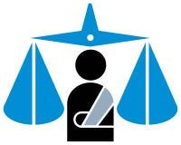 Emblema giudiziario Fotografie Stock