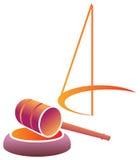 Emblema giudiziario Fotografia Stock