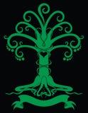 Emblema gotico dell'albero Immagini Stock Libere da Diritti
