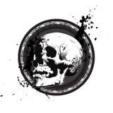 Emblema impreciso del cranio Fotografie Stock Libere da Diritti