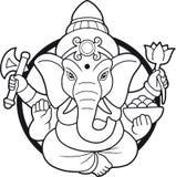 Emblema indio de Ganesha de dios libre illustration