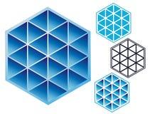 Emblema industrial de triángulos Foto de archivo libre de regalías