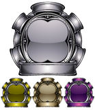 Emblema industrial do metal. Fotos de Stock Royalty Free