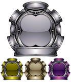 Emblema industriale del metallo. Fotografie Stock Libere da Diritti