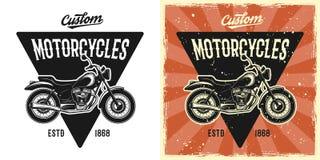 Emblema, insignia, etiqueta o logotipo del vector de la motocicleta ilustración del vector