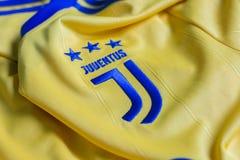 Emblema italiano del club FC Juventus Torino di calcio Fotografie Stock Libere da Diritti