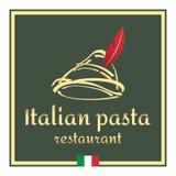 Emblema italiano della pasta, modello di vettore Immagine Stock Libera da Diritti