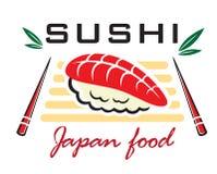 Emblema japonés de los mariscos del sushi Foto de archivo