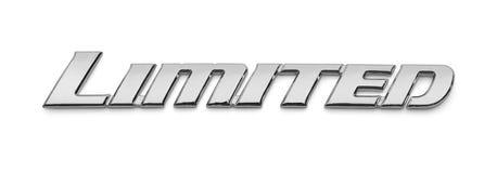 Emblema limitato di Chrome fotografia stock