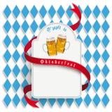 Emblema lungo rotondo bianco di Monaco di Baviera Oktoberfest Fotografie Stock