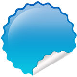Emblema lustroso azul Imagem de Stock Royalty Free