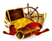 Emblema marinho Fotografia de Stock Royalty Free