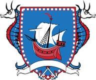 Emblema marinho Foto de Stock