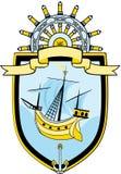 Emblema marino Immagini Stock Libere da Diritti