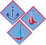 Emblema marino illustrazione di stock