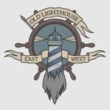 Emblema marino en estilo del vintage Imágenes de archivo libres de regalías