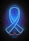 Emblema masculino del mes de la conciencia del cáncer de pecho, símbolo de Blue Ribbon Fotografía de archivo libre de regalías