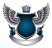 Emblema metallico di stile classico. Fotografia Stock Libera da Diritti