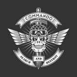 Emblema militar Fotos de archivo libres de regalías