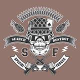 Emblema militar stock de ilustración