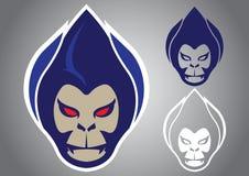 Emblema moderno capo di vettore di logo della scimmia Fotografia Stock Libera da Diritti