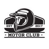 EMBLEMA MONOCROMÁTICO DEL CLUB DEL MOTOR Imagenes de archivo