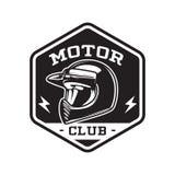 EMBLEMA MONOCROMÁTICO DEL CLUB DEL MOTOR ilustración del vector