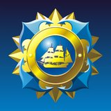 Emblema náutico Fotografía de archivo