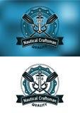 Emblema náutico do artesão Foto de Stock Royalty Free