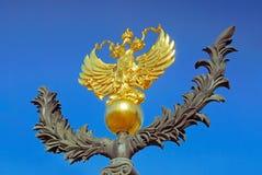 Emblema nacional da Federação Russa Foto de Stock