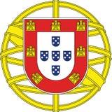 Emblema nacional Portugal foto de stock