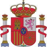 Emblema nacional Spain fotos de stock royalty free