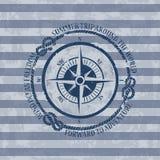 Emblema nautico con la bussola Immagine Stock