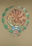 Emblema nazionale del Messico Immagini Stock