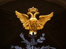 Emblema nazionale del paese della Russia Immagini Stock