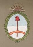 Emblema nazionale dell'Argentina Fotografia Stock