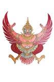 Emblema nazionale della Tailandia isolato su bianco Fotografie Stock