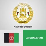 Emblema nazionale e bandiera Fotografia Stock