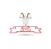 Emblema nel 2015 sulla capra orientale del calendario Fotografie Stock Libere da Diritti