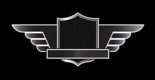 Emblema nero di lusso Immagine Stock