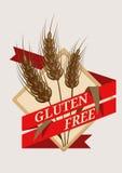 Emblema o etiqueta libre del gluten Fotos de archivo libres de regalías