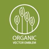Emblema orgánico abstracto del vector ilustración del vector