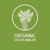 Emblema orgánico abstracto del vector stock de ilustración